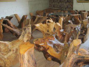 Base de tronco para mesa de jantar